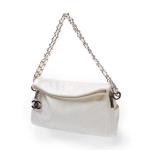 Bolsa Chanel Branca Ombro