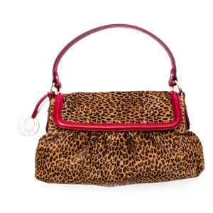 Bolsa Fendi Leopardo Vermelho