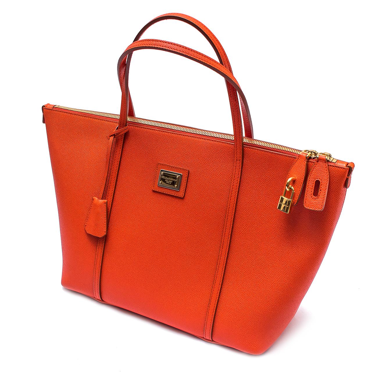 1f4e5c7c1dd Bolsa Dolce   Gabbana Laranja. Box de Grife 380