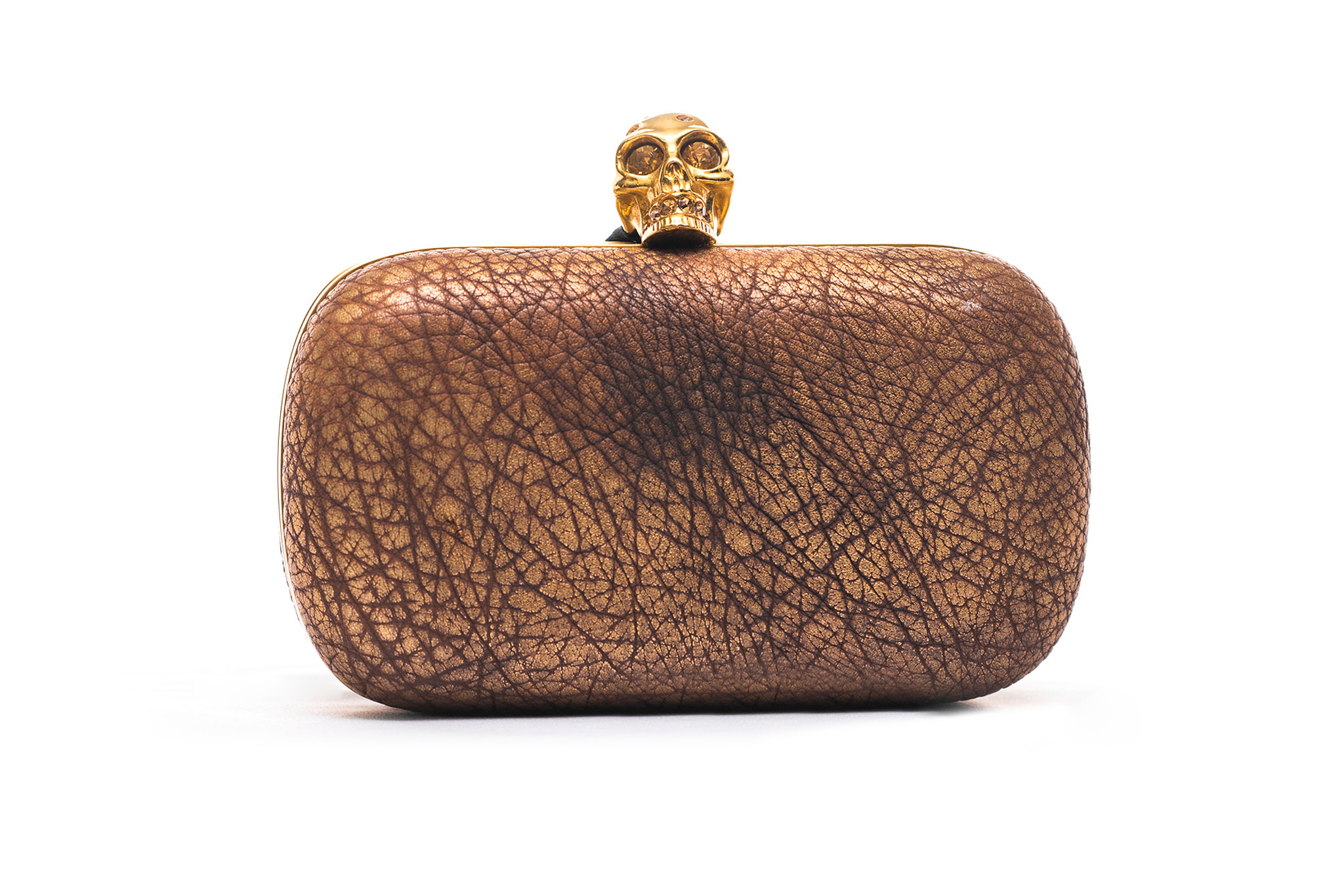 35052957bf9 Clutch Alexander McQueen Gold   Brown Crystal Skull